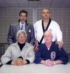 Dr. Gyi, Harry Smith and Ed McGrath at the 1998 OIKKA Hall of Fame Tournament